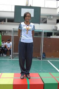 Allison Díaz Campeona de Natación 10° EGB