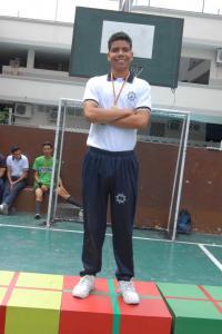 Xavier Orejuela Vice Campeón Tiro con arco Bachillerato
